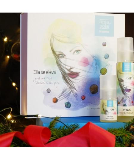 Venus cofre regalo. Perfume Bio y Aceite Precioso