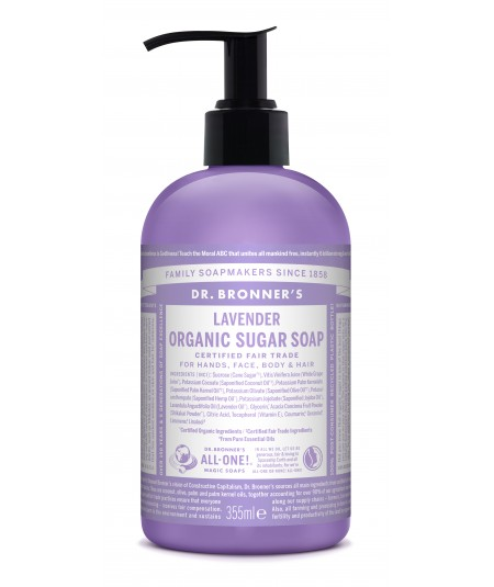 Jabón de Shikakai Lavanda, 355 ml, Dr Bronner´s