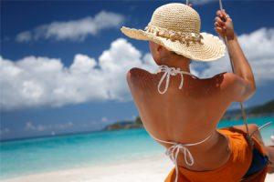 Crema y aceites ecológicos. Protección solar